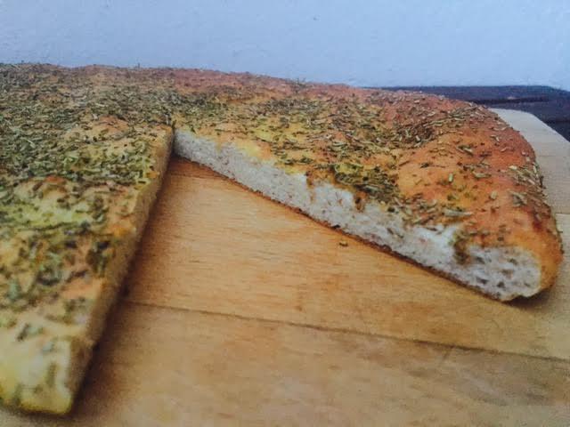 Focacciabrød af jordskokker uden mel