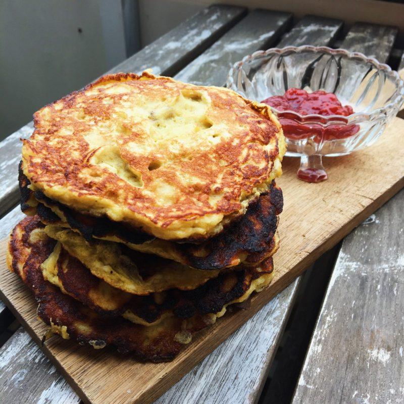 Amerikanske pandekager uden mel, sukker og laktose
