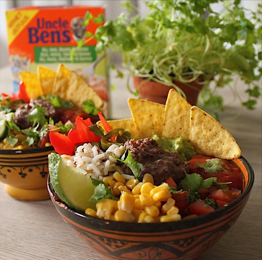 Sund og spicy mexi bowl med bønnemos (vegansk)