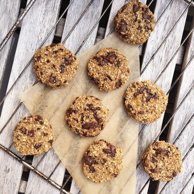 Lækre, veganske cookies af 3 ingredienser (glutenfri) - Sydhavnsmor.dk