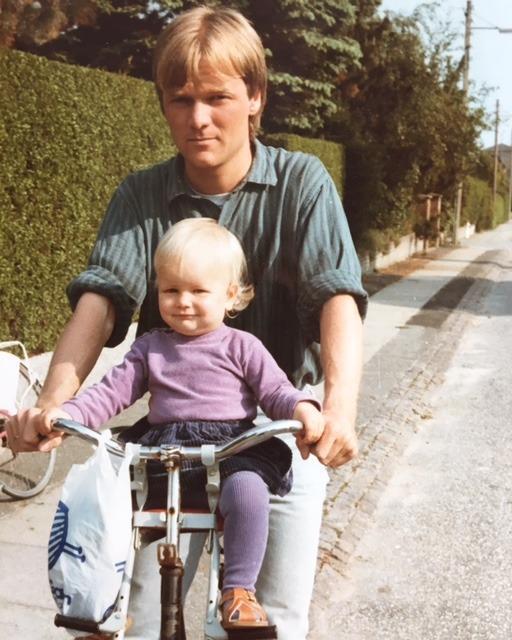 Min far og jeg i 80'erne