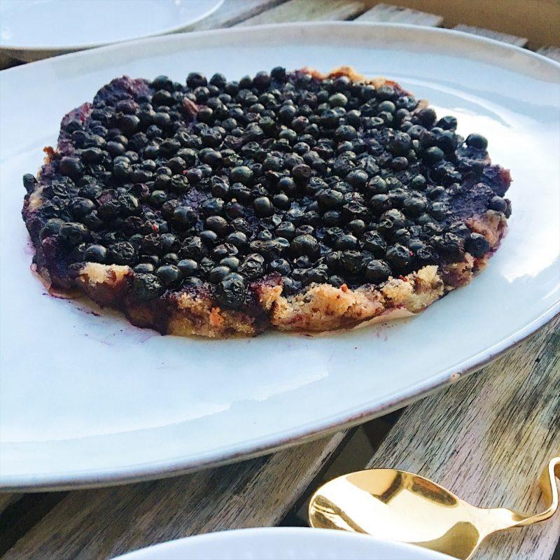 No-bake blåbærtærte af 3 ingredienser (sukker- og glutenfri, vegansk)