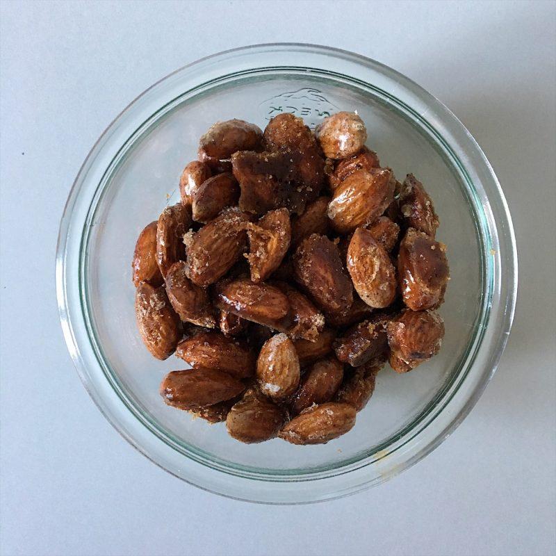 Brændte mandler på 5 minutter (sukkerfri)