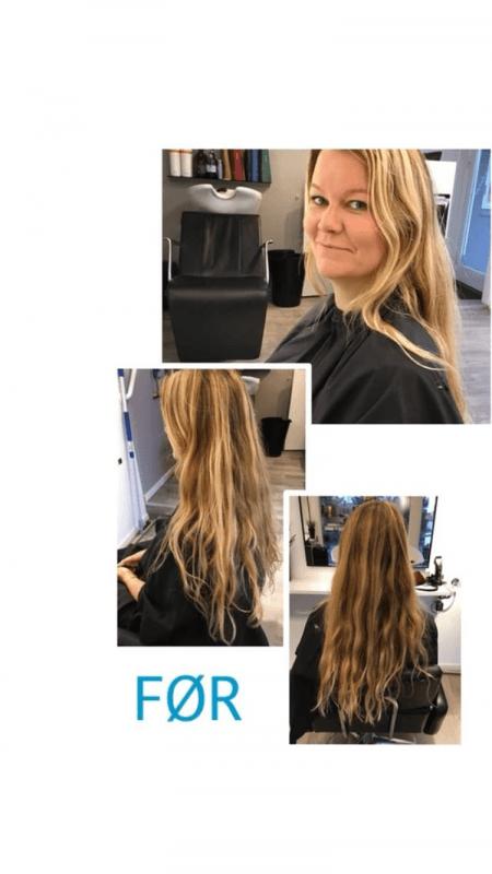 Før- og efter billeder af mit (nu meget kortere) hår - Sydhavnsmor.dk