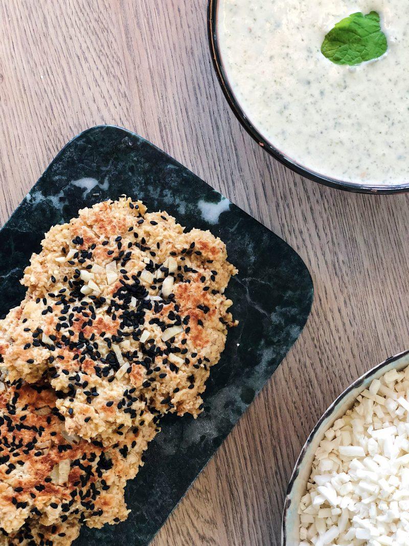 Glutenfri naanbrød lavet på panden