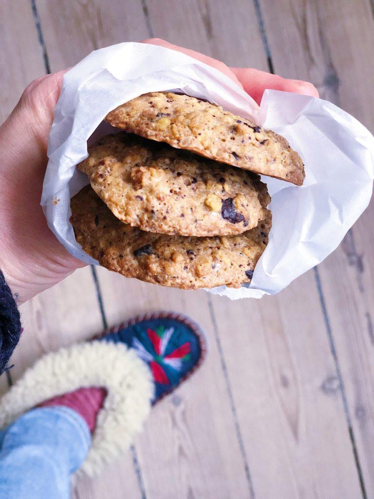 Nemme havregryncookies med chokolade (mel- og sukkerfri)