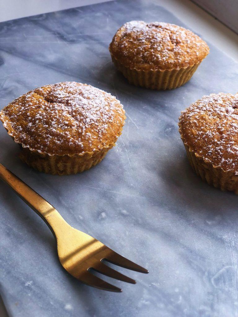 Krydrede græskarmuffins (mel- og sukkerfri)