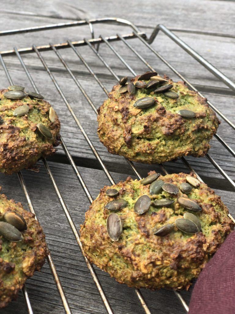 Grønne fiberboller af 5 ingredienser (glutenfri)