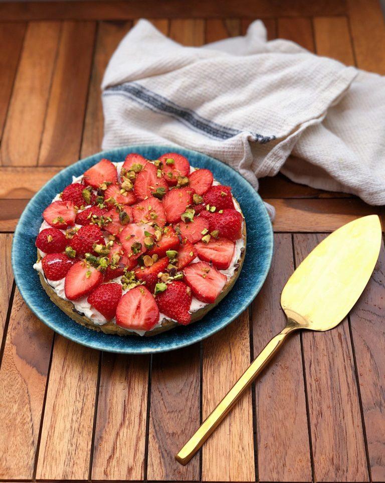 nem glutenfri jordbærtærte uden sukker