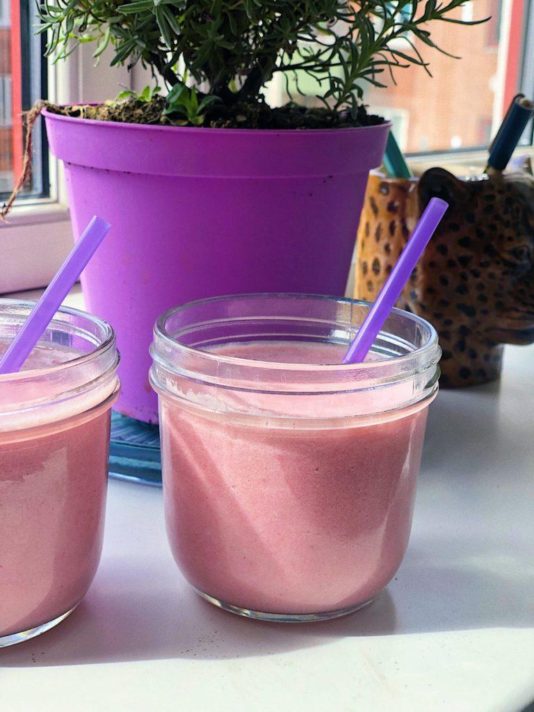 sukkerfri jordbærmilkshake