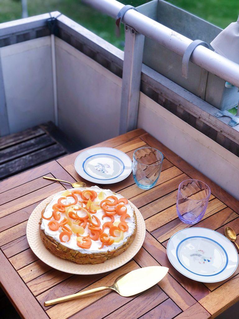 glutenfri og sukkerfri gulerodskage