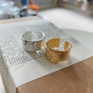 forfyldt sterling sølv ring
