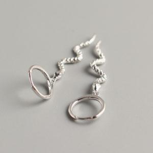 slangeørering sterling sølv